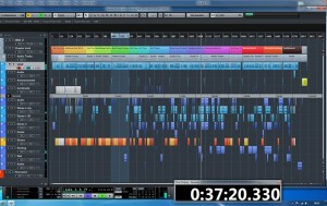 The new Cubase Pro 8 - screenshot of the Barney The Musical Project page